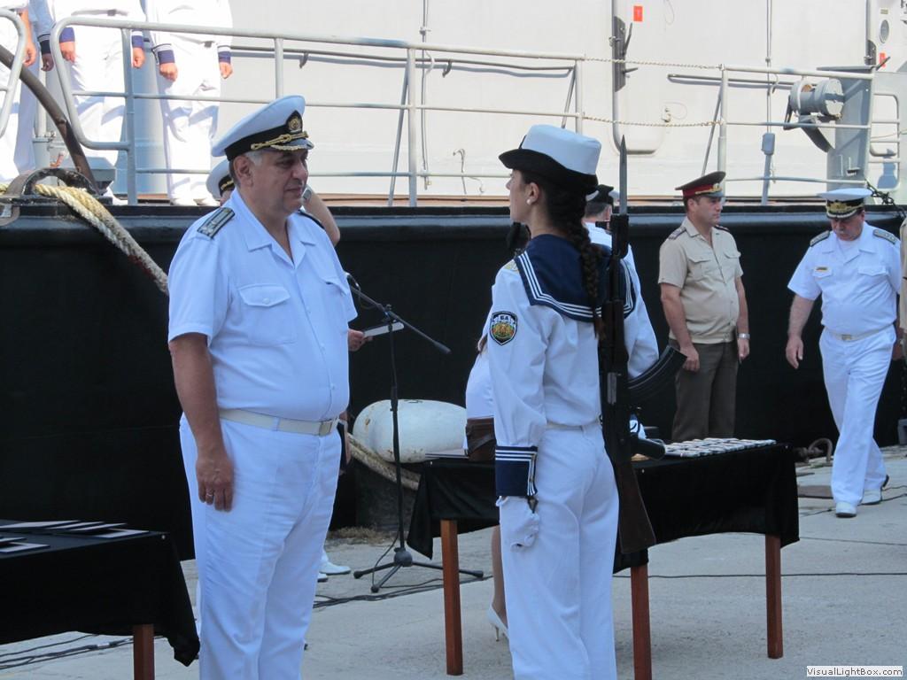 """Присвояване на първо офицерско звание на курсантите от """"Випуск 2014"""" на ВВМУ """"Н. Й. Вапцаров"""""""