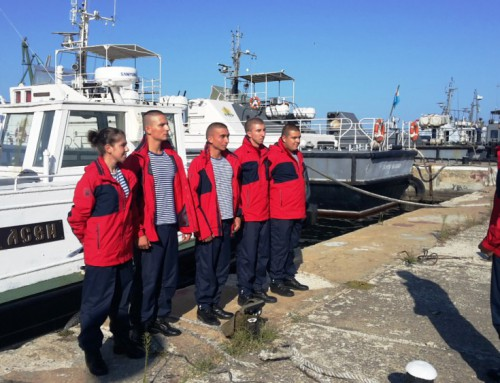 Cadets train on m/v Asen