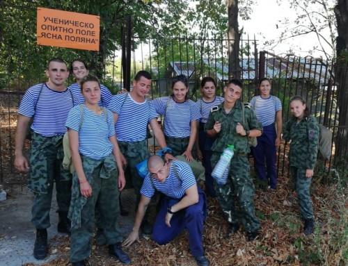 """Курсанти мериха сили в лагер """"Лидерска подготовка"""""""