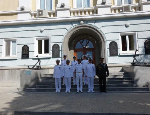 """Протоколна визита във ВВМУ от командването на турския учебен кораб """"Санджактар"""""""