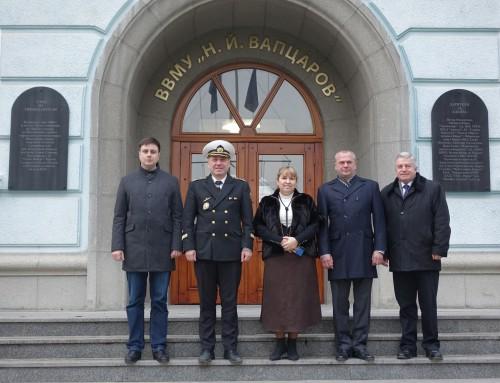 """Делегация от Одеската морска академия посети ВВМУ """"Н. Й. Вапцаров"""""""