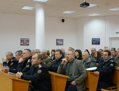 Морско училище бе домакин на среща на военните окръжия