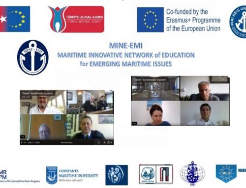 Морско училище участва във виртуална конференция по проект MINE-EMI