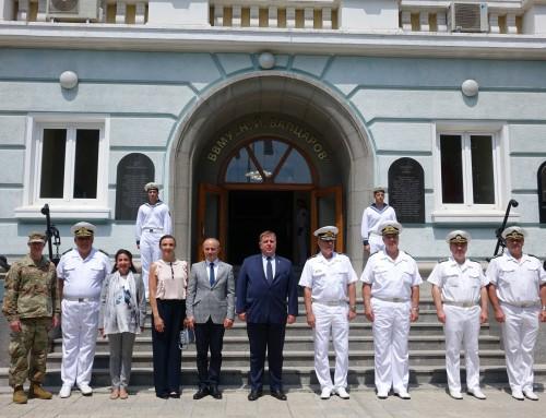Three ambassadors visit Naval Academy