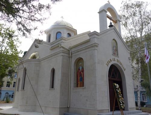 Първа света Литургия бе отслужена в храма на Морско училище