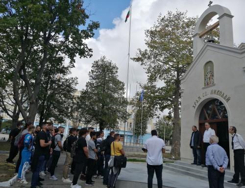 Новата учебна година за гръцките студенти в Морско училище  започна с водосвет