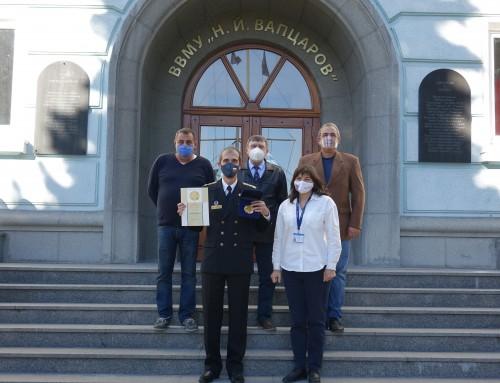 """Екип от Морско училище получи награда """"Варна"""" в областта """"Хуманитарни науки"""""""