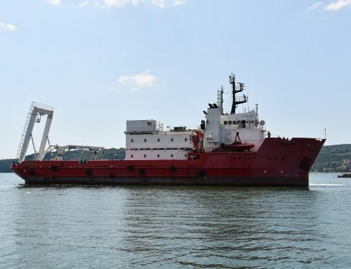 Първият военен научноизследователски кораб на България акостира в Пункт за базиране – Варна